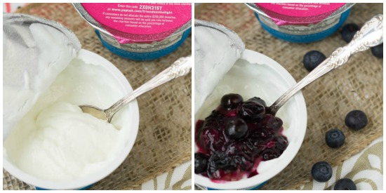 Greek Yogurt Mix Ins - 1-Up Your Cup with easy add ins for a quick breakfast or snack