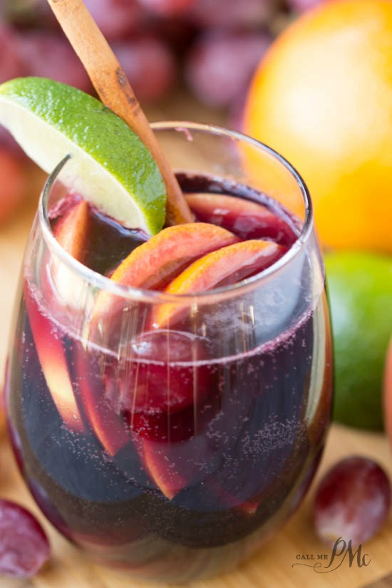 Red Wine Citrus Sangria Recipe - a cheery and bright red wine sangria full of citrus fruit
