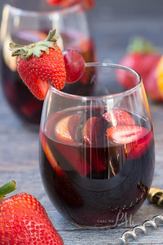 ... cocktail, but this Strawberry Citrus Sangria is good any time of year