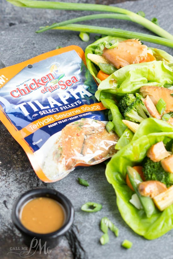 My Asian Tilapia Lettuce Wraps recipe are fresh, crunchy and ready in less than 15 minutes.