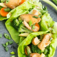 Asian Tilapia Lettuce Wraps
