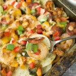 Cajun Etouffee Nachos recipe - easy crowd-pleasing nachos, great for game day and entertaining appetizer, snack or meal!