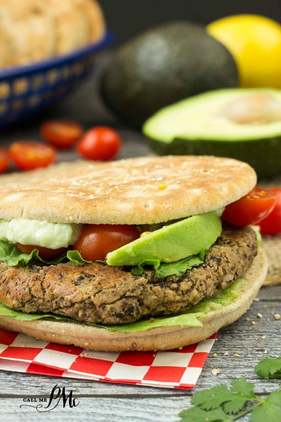 Cilantro Black Bean Burger recipe healthy and hearty and inexpensive