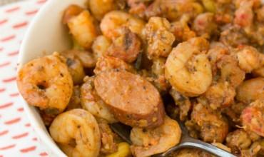 New Orleans Sausage Shrimp Crawfish Pasta