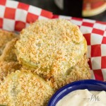 Panko Crusted Baked Fried Green Tomatoes with Lulus Wow Sauce
