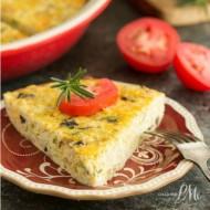 Sauteed Cauliflower Mushroom Leek Crustless Quiche