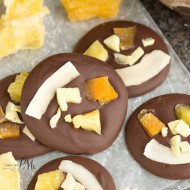 Tropical Dried Fruit Chocolate Bites