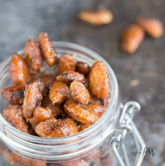 Easy Cinnamon Roasted Almonds recipe is a basic sugar coated nut recipe. It's slightly sweet with a hint of cinnamon.
