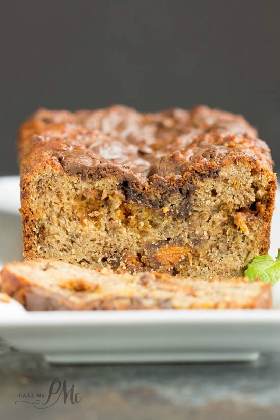 Nutella Swirled Peanut Butter Roasted Banana Bread recipe - Perfect texture and flavor, Nutella Swirled Peanut Butter Banana Bread can be prepared in minutes and doesn't require a mixer.
