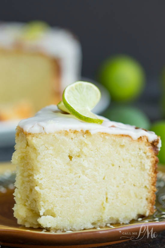 Scratch made Key Lime Pound Cake Recipe with Key Lime Glaze - This easy pound cake recipe is filled with the bold, citrus taste of key limes!