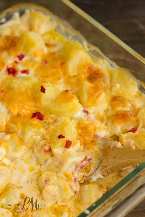 Pimento Cheese Scalloped Potatoes recipe is a Cheesy Potato Casserole. This is our favorite side dish. I make it every year.