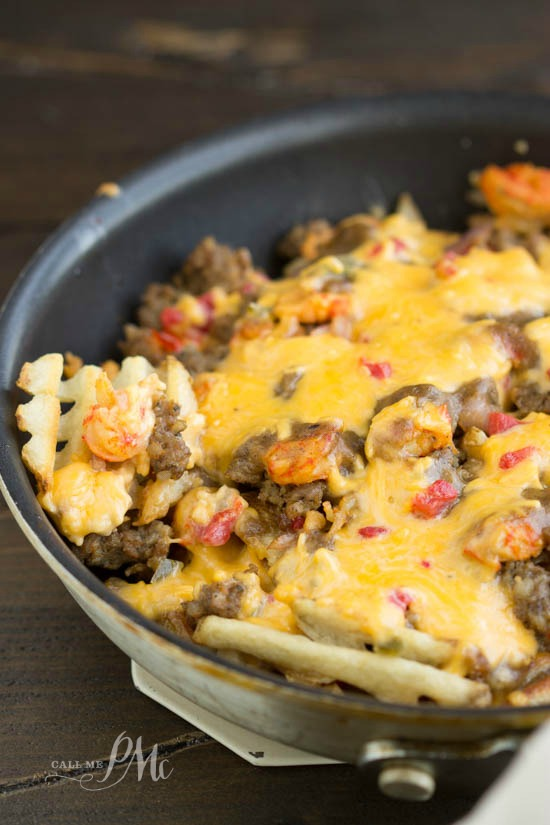 Sausage Crawfish Poutine Cheese Fries recipe is my quick and easy take ...