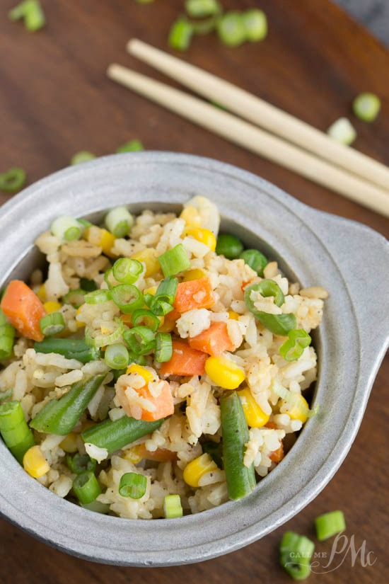 You're not going to believe a quickly and easily this Shortcut Fried Rice recipe goes from stove to table. It takes just minutes to make. This recipe will be your go-to fried rice recipe.