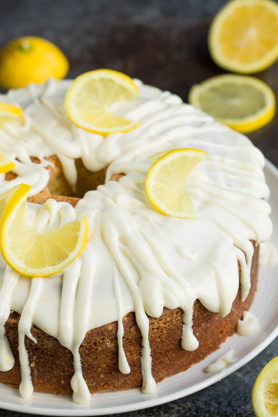 Trisha Yearwoods Lemon Pound Cake with Glaze recipe is moist and perfectly flavored. This cake is bright and fresh and a must-make recipe.