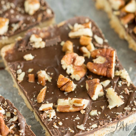 Chocolate Pecan Shortbread Bars recipe