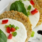 Oven Fried Green Tomato Caprese Recipe with Balsamic Reduction s