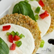 Oven Fried Green Tomato Caprese Recipe with Balsamic Reduction