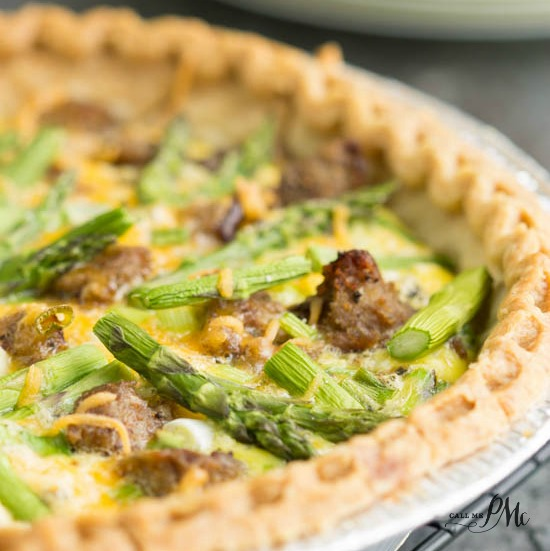 Turkey Sausage Asparagus Quiche recipe