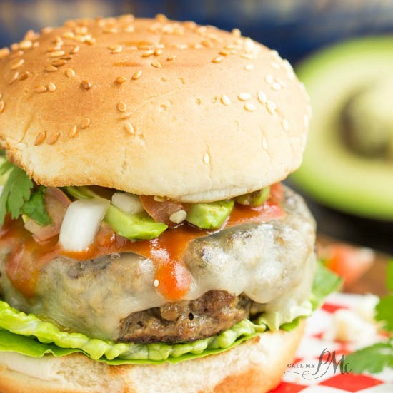 Enchilada Burger recipe for Burger Month s