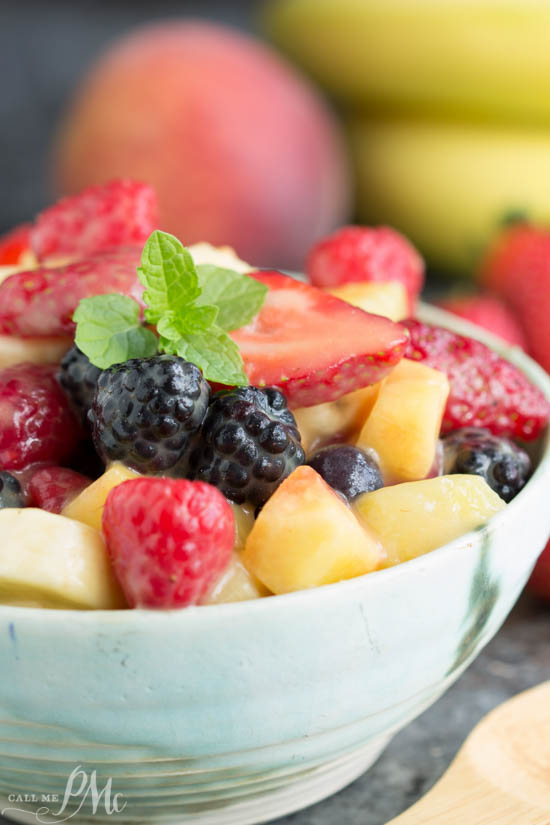 Instant Vanilla Pudding Fruit Salad Recipe simply delicious, this salad is equally as good with fresh fruit or convenient canned fruit. The secret is using dry instant pudding. It combines with the fruit juice to create a slightly sweet, rich sauce that coats every bite of the fruit.