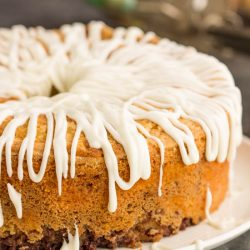 Homemade Sour Cream Cinnamon Roll Pound Cake