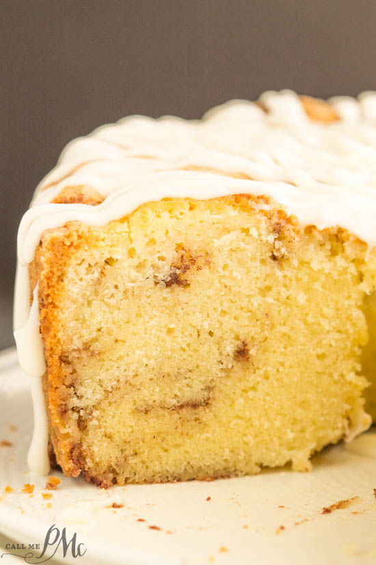 Homemade Sour Cream Cinnamon Roll Pound Cake Recipe With