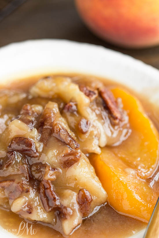 Peach Pecan Cobbler, a sweet and buttery dessert recipe that's loaded with fresh peaches and toasted pecans. This simple and easy dessert comes together in one pan.