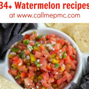 Raise your hand if you like watermelon! Me, me, me! Eating juicy watermelon is the epitome of summer to me! There's nothing like it. I gathered 34+ Yummy Watermelon Recipes to enjoy now!