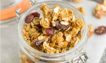 Dried Cherry Almond Granola Clusters