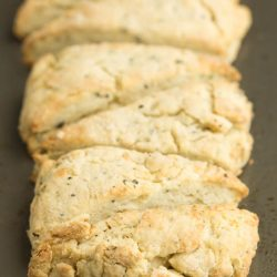 Freshly Ground Black Pepper Mascarpone Scones have layers of fluffy goodness bursting with buttery flavor. Easy and scrumptious scone recipe.