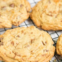 Loaded Butterfinger Chocolate Chip Toffee Cookies