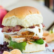 Turkey Brie and Cranberry Mustard Sliders
