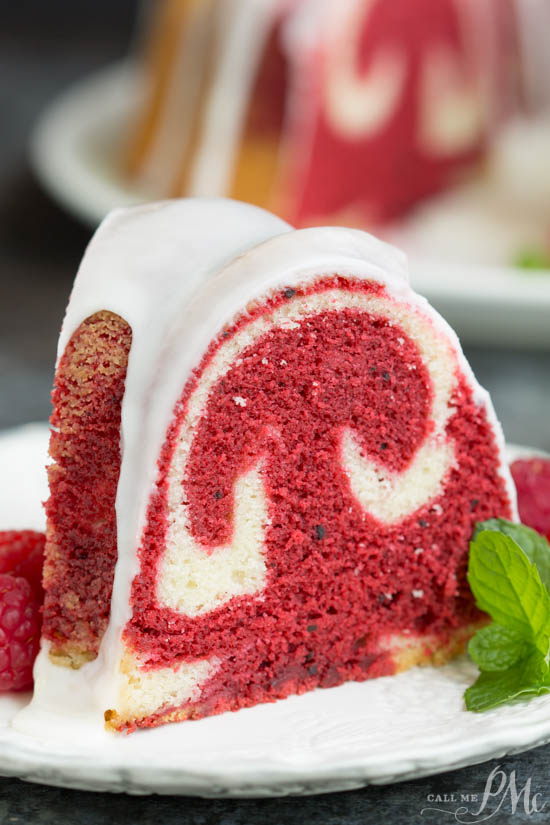 Vanilla Red Velvet Marbled Pound Cake Recipe Call Me PMc
