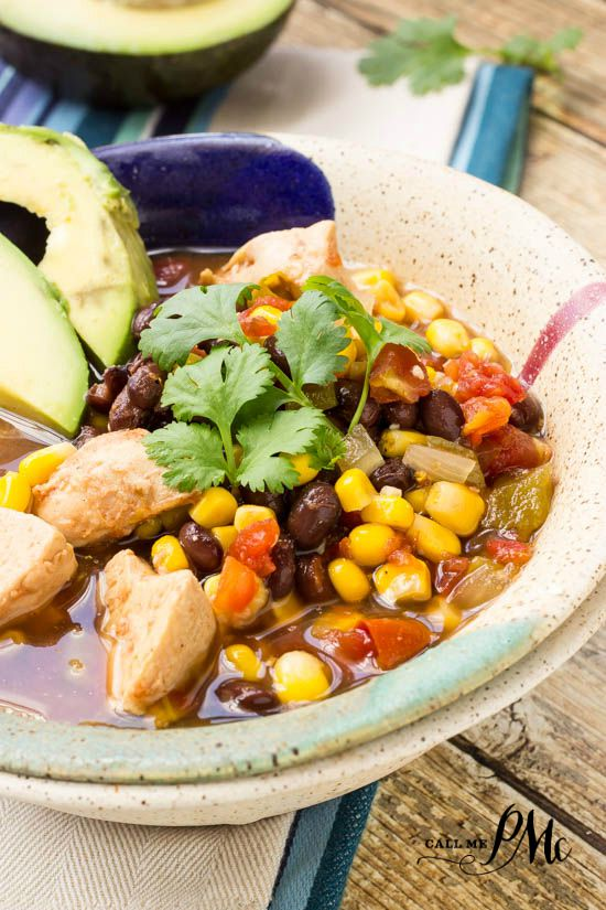 Healthy Slow Cooker Tex Mex Chicken Soup @Swansonbroths #ad