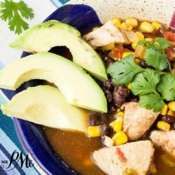 Healthy Slow Cooker Tex Mex Chicken Soup