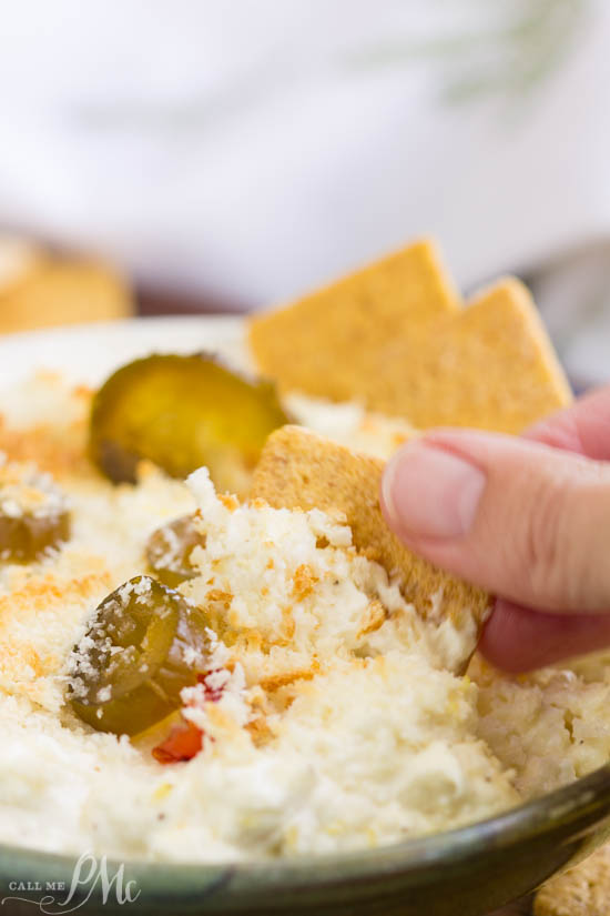 Jalapeno Feta Dip is creamy, tangy, and spicy. It's packed with flavor, topped with crispy breadcrumbs, and baked to dipping perfection! Jalapeno Feta Dip is one of my favorite hot dips to serve when entertaining.