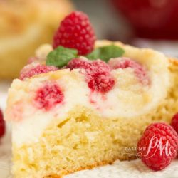 Raspberry Cream Cheese Coffee Cake with Streusel Topping