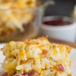 Every bite of these Bacon Cheese Butter Pan Biscuits is full of flavor from the bacon and cheese.