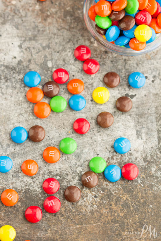 M&M Cinnamon Rolls make a fun and delicious carefree breakfast treat!