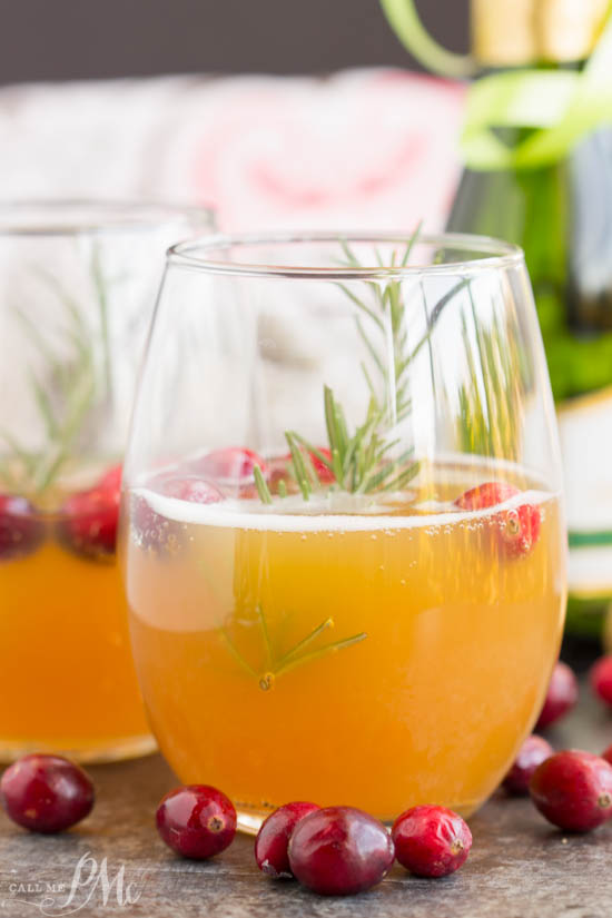 A tasty combination of tart and sweet, 2 ingredient apple cider mimosa cocktail is a welcome recipe to your brunch line up. It's simple. It's delicious. It's perfect for fall and winter!