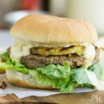 Hawaiian Pineapple Turkey Burger Recipe with Teriyaki Mango Sauce