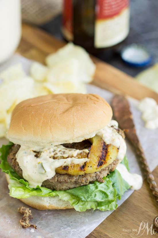 Hawaiian Pineapple Turkey Burger Recipe With Teriyaki Mango Sauce