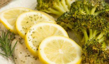 Baked Lemon Rosemary Chicken and Broccoli