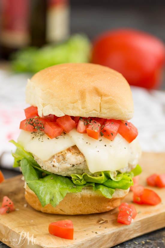 Bruschetta Turkey Burger Sliders » Call Me PMc