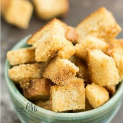 Easy recipe from Call Me PMc- How to Make Homemade Croutons! Homemade Croutons will take a salad or stuffing from average to extraordinary!