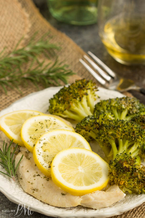 Baked Lemon Rosemary Chicken and Broccoli is a quick, healthy dinner recipe for busy weeknights.