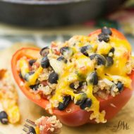 Southwestern Quinoa Stuffed Bell Peppers