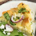Spinach Goat Cheese Strata