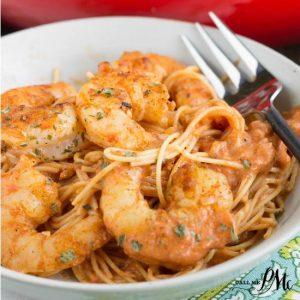 Shrimp Pasta in Spicy New Orleans Tomato Cream Sauce