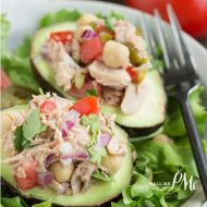 Avocado Filled Canned Tuna Ceviche Salad